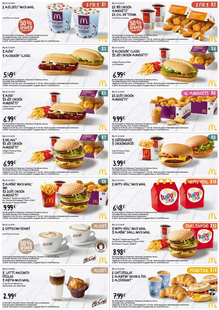 Mc Donalds Coupons 2017 2018 Best Cars Reviews