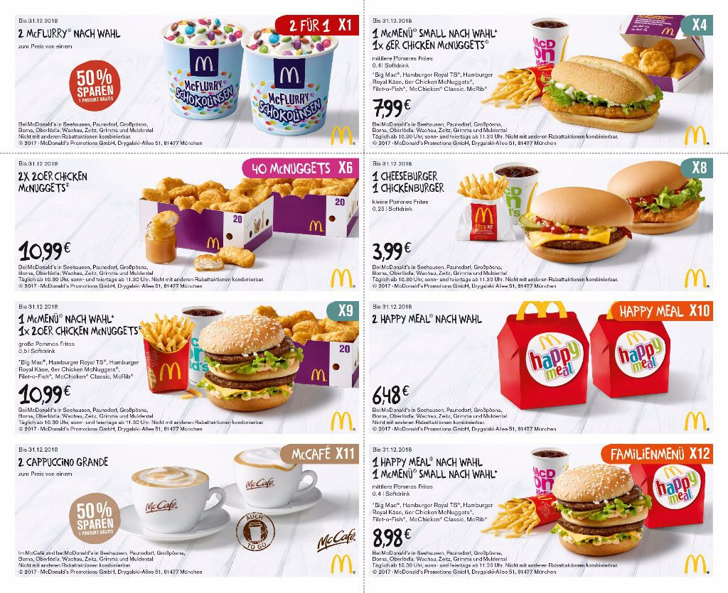 Coupons Mcdonalds Leipzig 2018