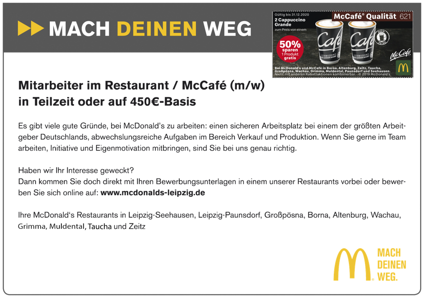 McDonalds Leipzig Coupon 2020